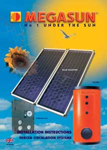 Máy nước nóng năng lượng mặt trời Megasun VS150 / BL1